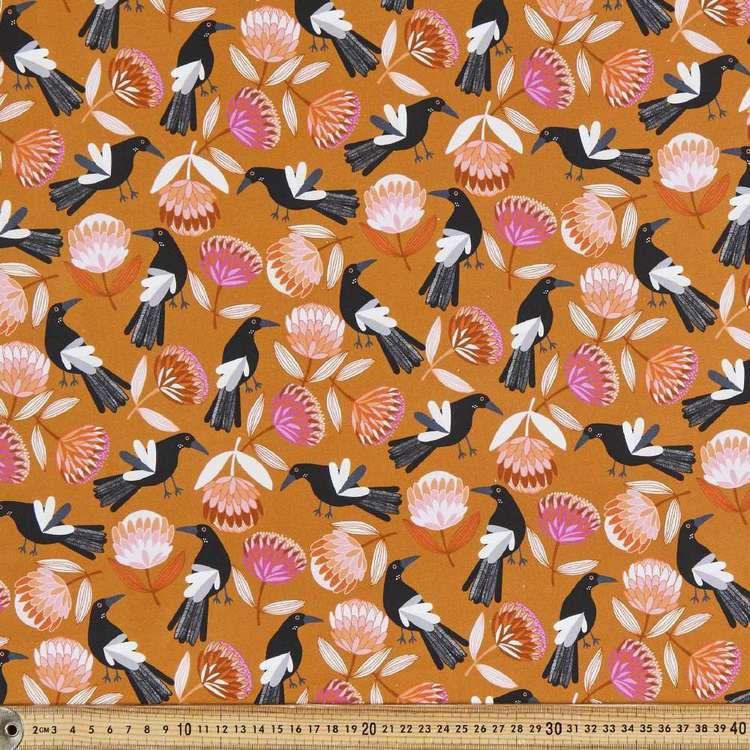Jocelyn Proust Digital Magpie & Protea Cotton Fabric