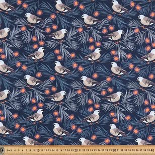 Jocelyn Proust Digital Black-Throated Finch Cotton Fabric