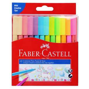 Faber Castell Connector Pen Set 12 Pack