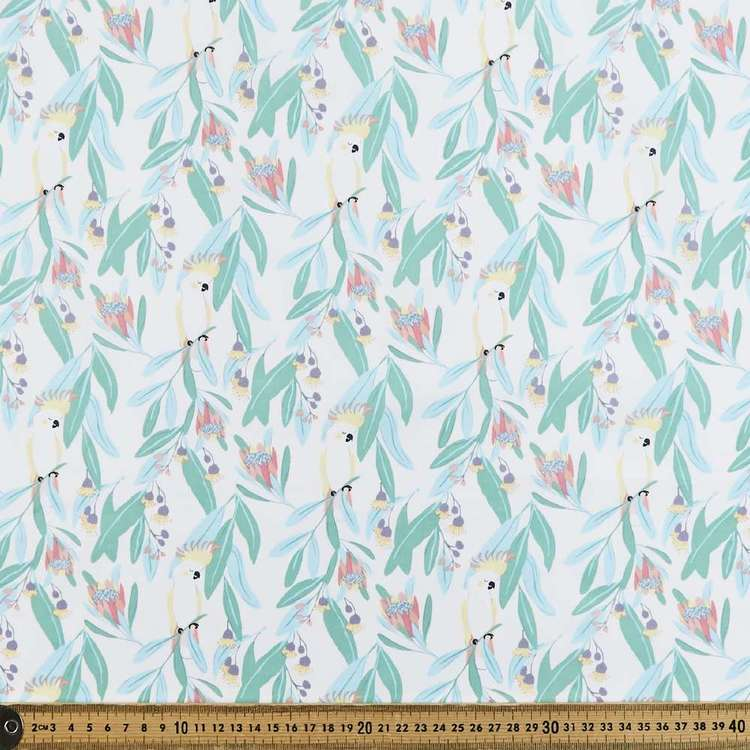 Cockatoo Printed 112 cm Cotton Poplin Fabric