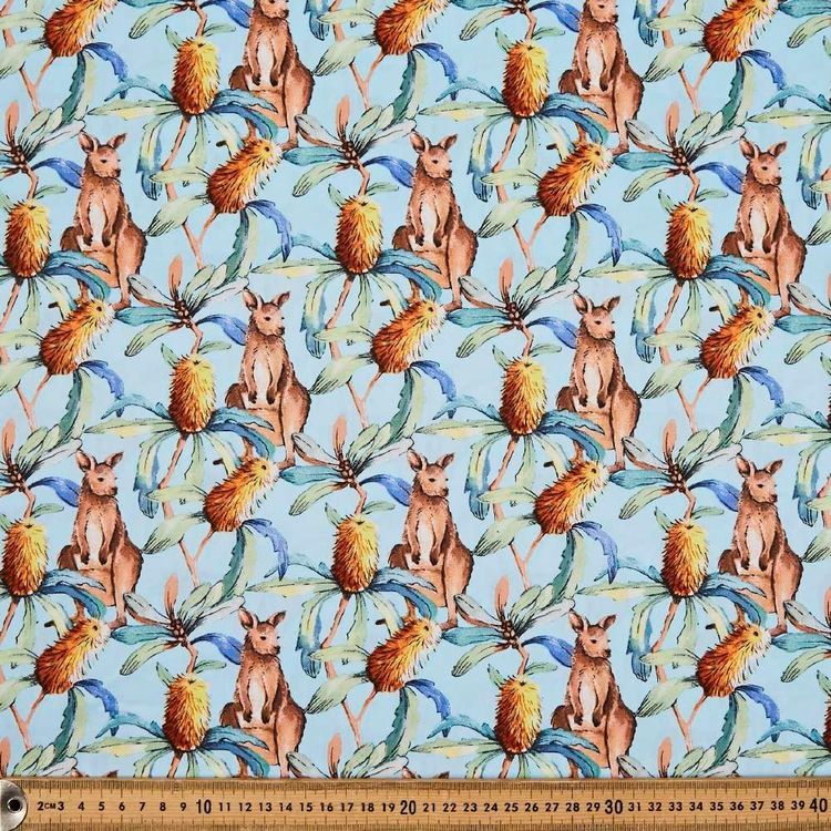 Banksia Printed 112 cm Cotton Poplin Fabric