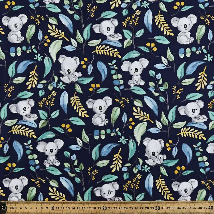 Koala Kapers Printed 112 cm Cotton Poplin Fabric