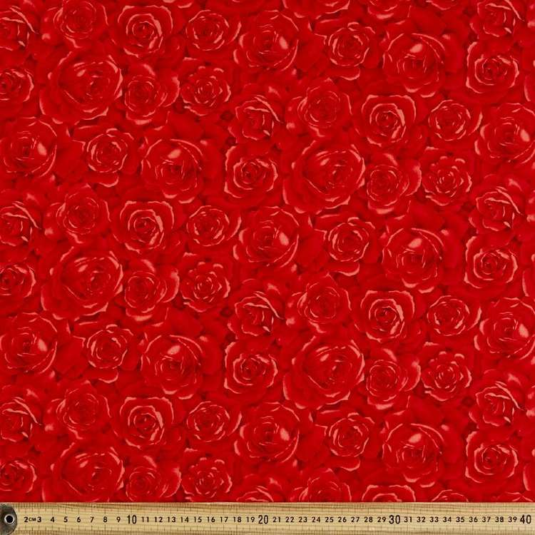 Soft Red Roses Cotton Fabric