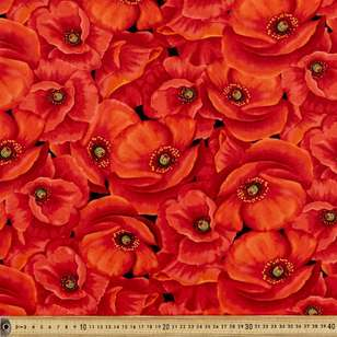 Large Poppies Cotton Fabric