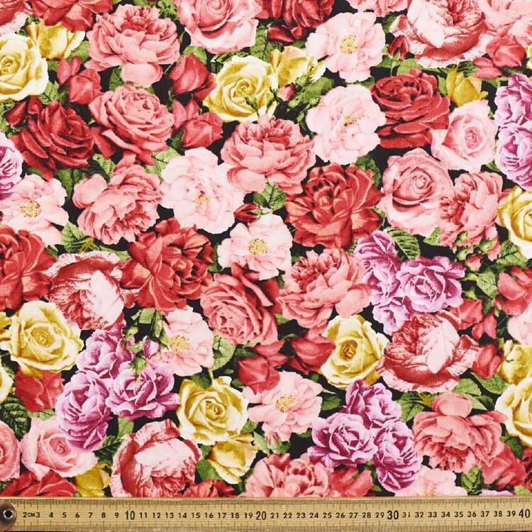 Large Roses Cotton Fabric