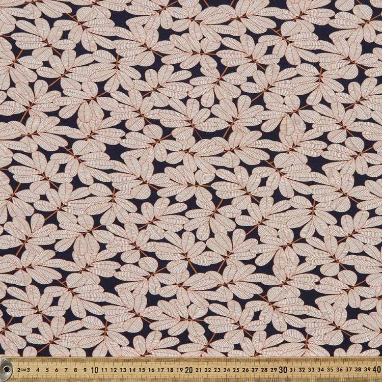 Jocelyn Proust Leaf Printed 148 cm Rayon Knit Fabric
