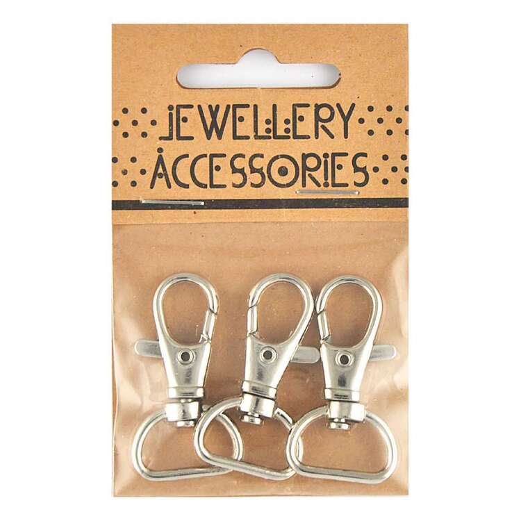 Ribtex Jewellery Accessories Snap Clasp With Square Base 2 Pack