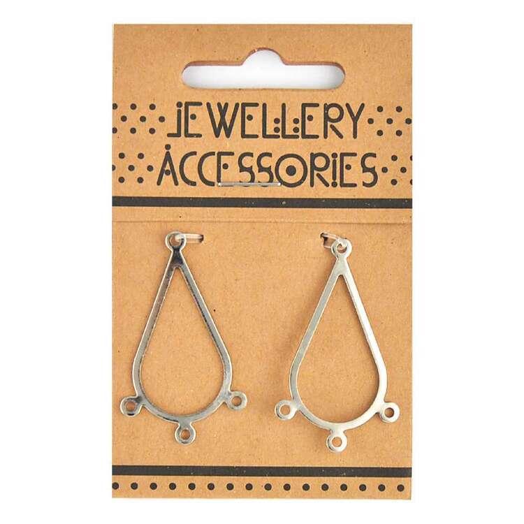 Ribtex Jewellery Accessories Tear Drop Chandelier 2 Pack