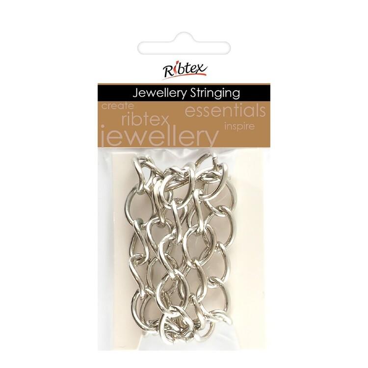 Ribtex Jewellery Stringing 60 cm Oval Twist Chain