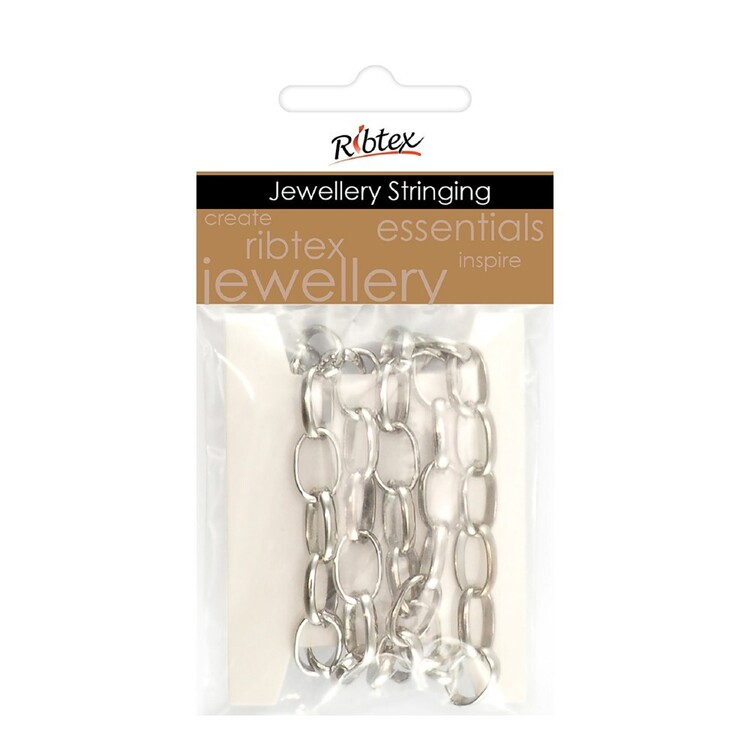 Ribtex Jewellery Stringing 60 cm Oval Link Chain