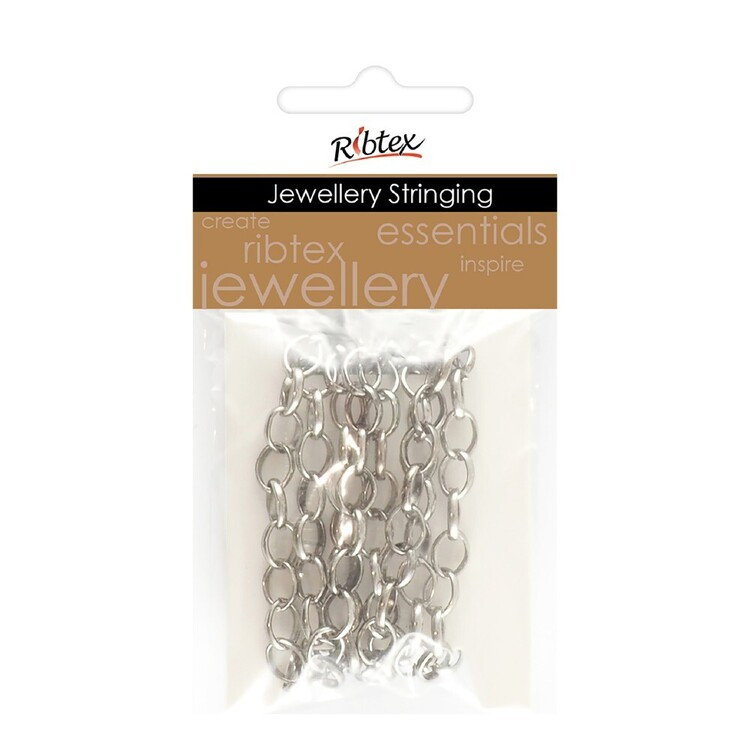 Ribtex Jewellery Stringing 1 m Round Link Chain