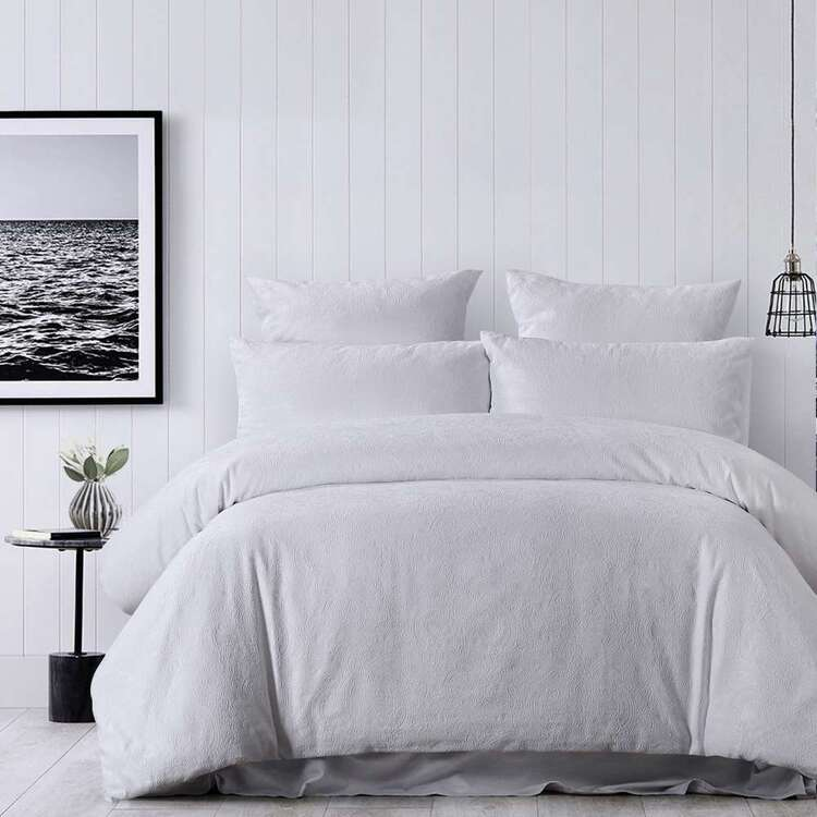 White Home Piper Quilt Cover Set