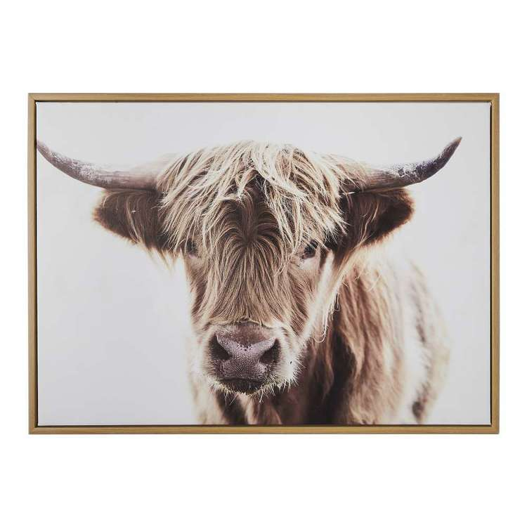 Ombre Home Artisan Soul Highland Cow Framed Print Natural 50 x 70 cm