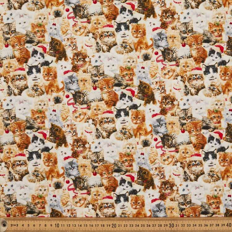 Fireside Kitty Packed Cotton Fabric