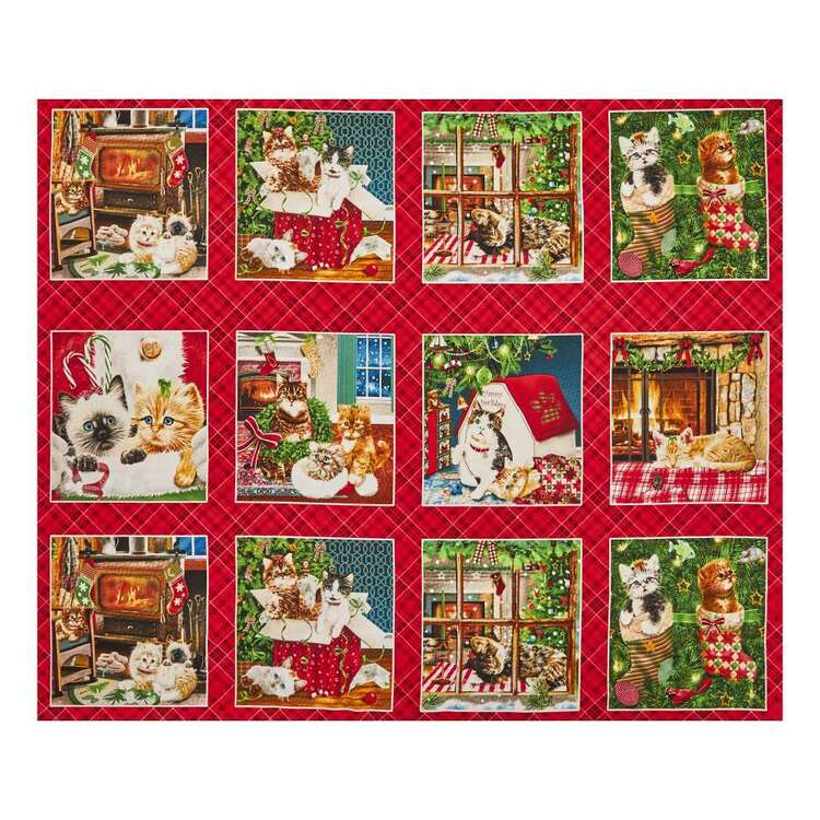 Fireside Kitty Cotton Panel
