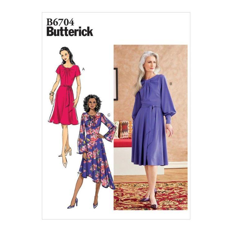Butterick Pattern B6704 Misses' Dress & Sash