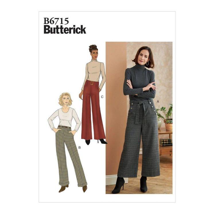 Butterick Pattern B6715 Misses'/Misses' Petite Pants