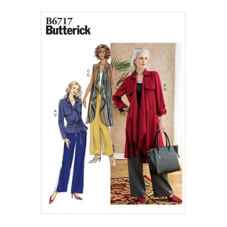 Butterick Pattern B6717 Misses' Jumpsuit & Sash