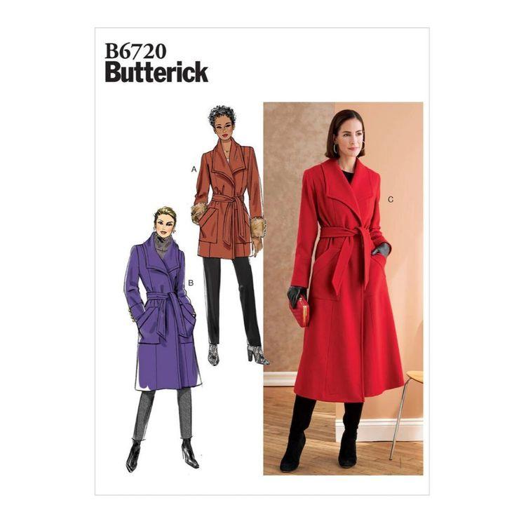 Butterick Pattern B6720 Misses'/Misses' Petite Outerwear & Belt