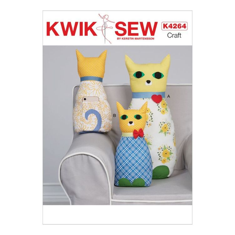 Kwik Sew Pattern 4264 Cat Pillow With Pocket