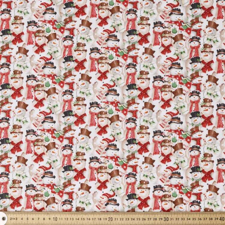 Blank Quilting Magic Snowman Cotton Fabric