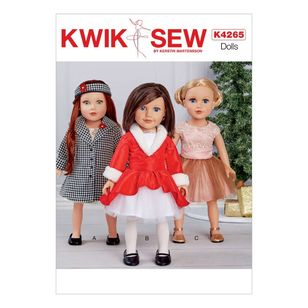 "Kwik Sew Pattern 4265 18"" Doll Clothes"