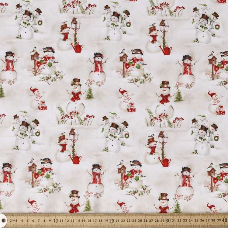 Blank Quilting Magic Large Snowman Cotton Fabric