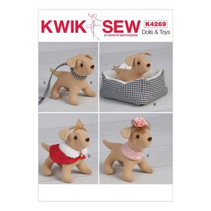 Kwik Sew Pattern 4269 Soft Dog And Accessories