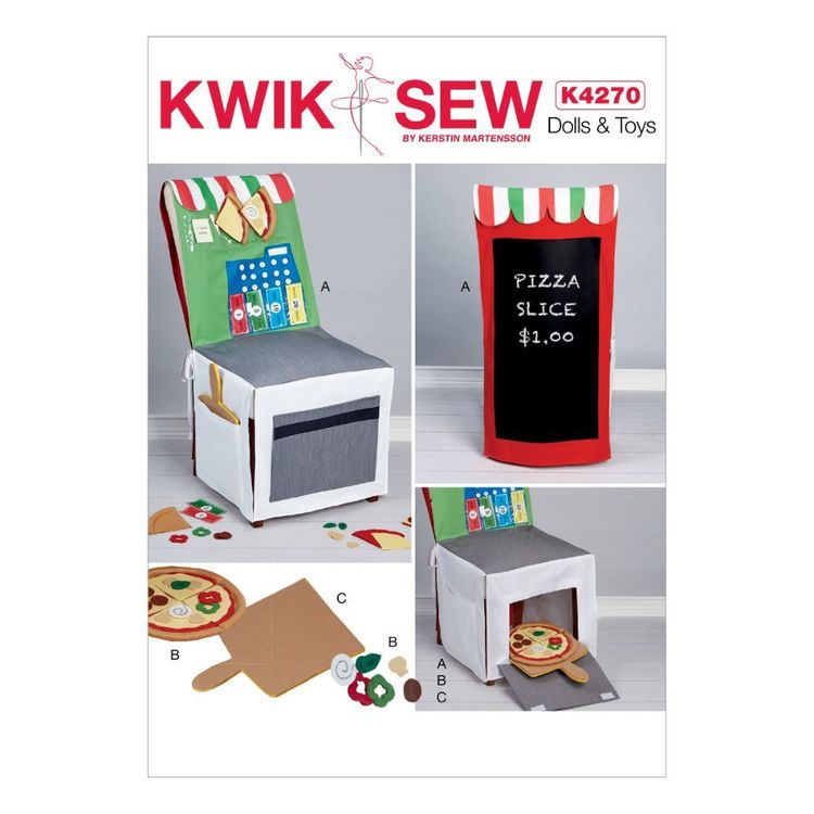 Kwik Sew Pattern 4270 Pizza Shop Chair Cover And Accessories