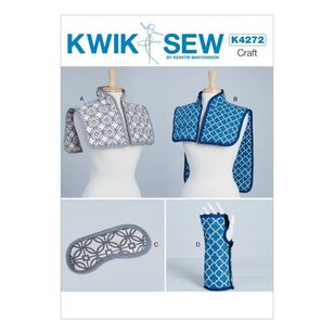 Kwik Sew Pattern 4272 Hot Or Cold Shoulder Wraps, Masks And Wrist Wrap