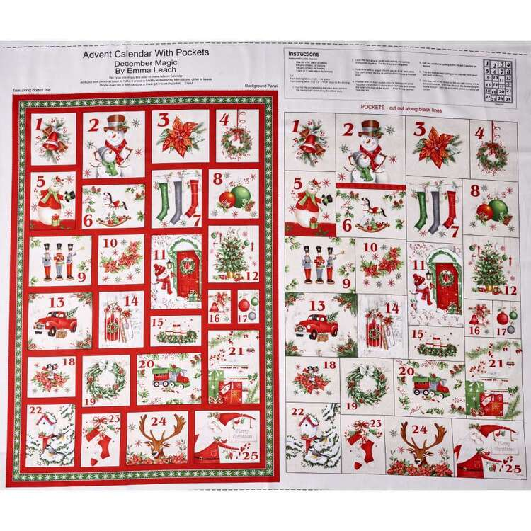 Blank Quilting Magic Calendar Cotton Panel