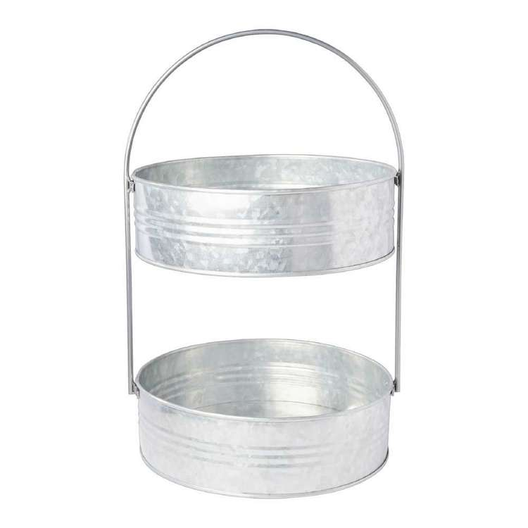 Francheville Galvanised 2 Tier Tray 25 x 40 cm