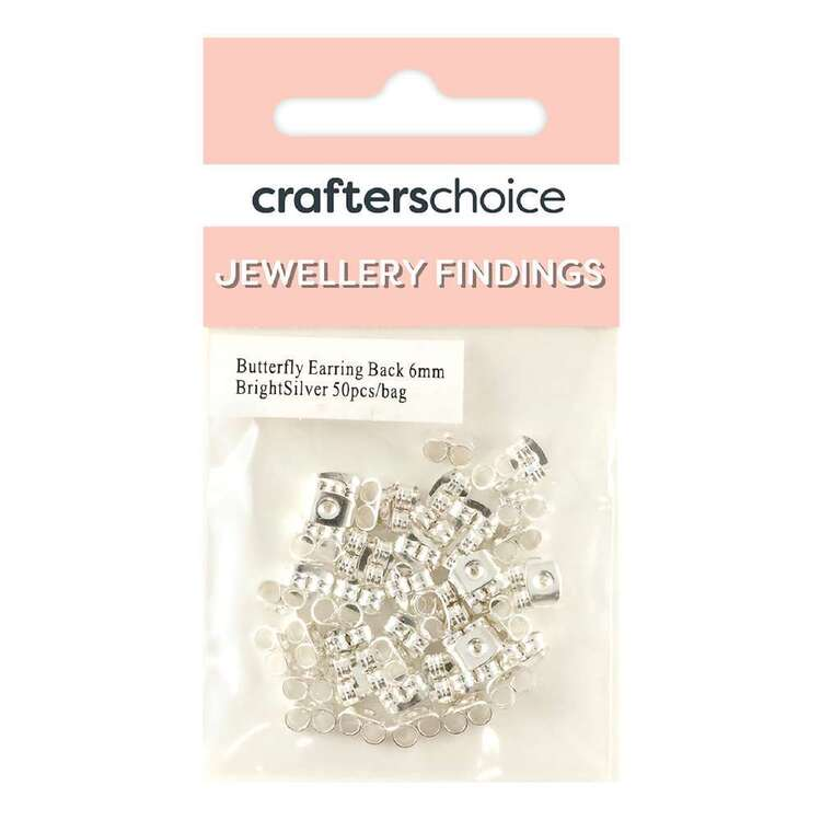 Crafters Choice Butterfly Earring Back 50 Pack