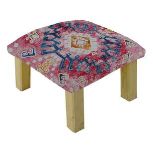 Living Space Kye Printed Cotton Mex Stool