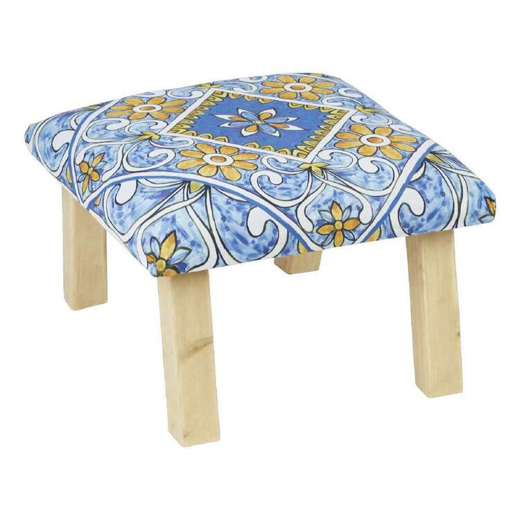 Living Space Nala Printed Cotton Mex Stool