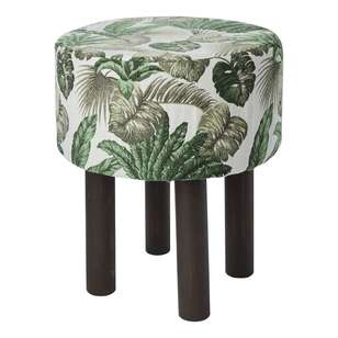 Koo Home Leaves Tapestry Footstool
