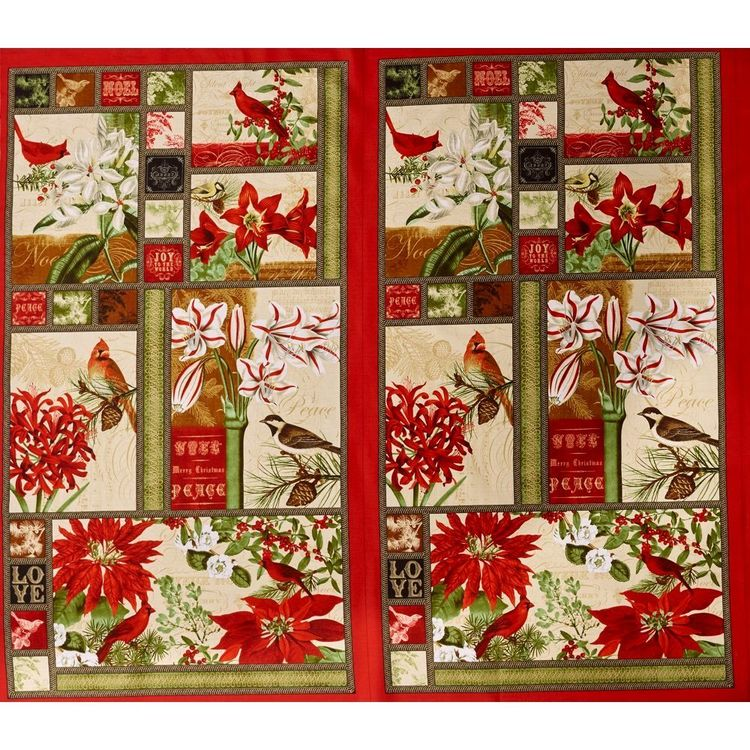Blank Quilting Yuletide Botanica Cotton Panel