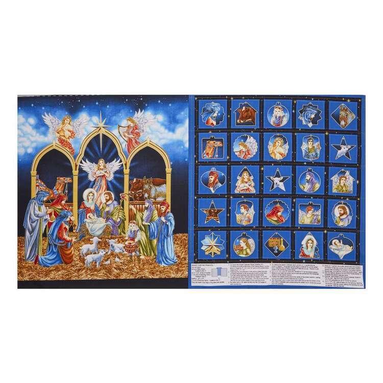 Silent Night Calendar Cotton Panel