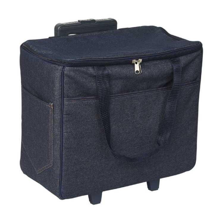 Semco Plain Denim Trolley Bag