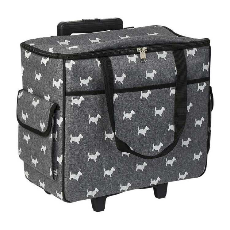Semco Dog Print Trolley Bag