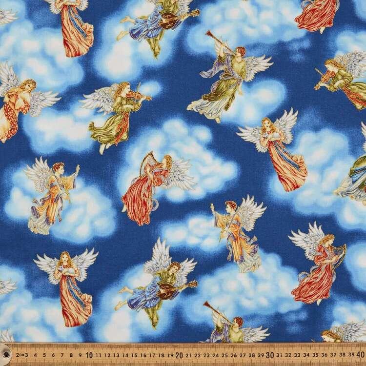 Silent Night Angels Cotton Fabric