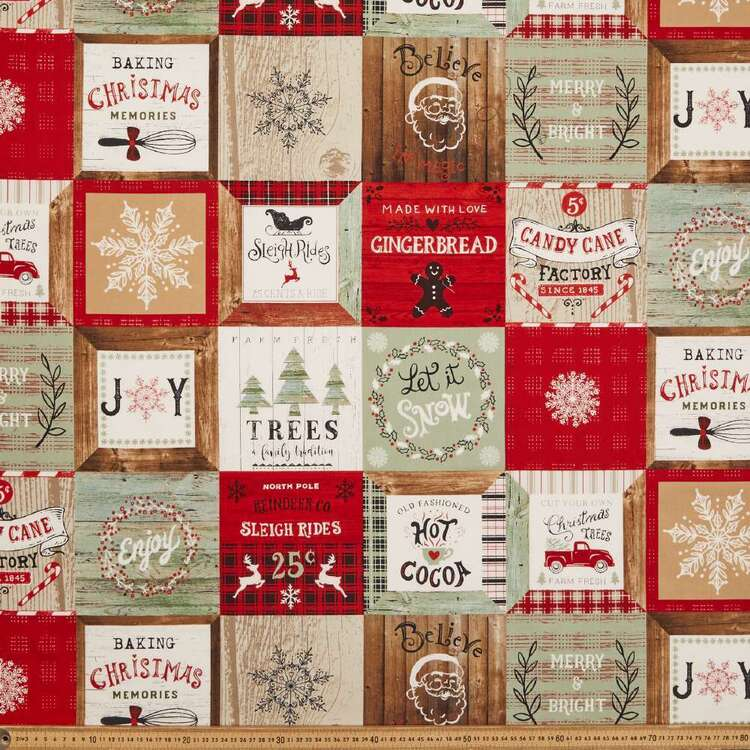 Studio E Christmas Memories Patch Cotton Fabric