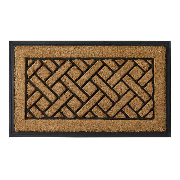 Koo Home Basket Coir And Rubber Mat