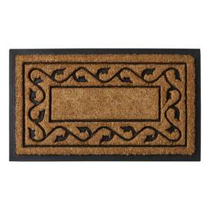 Koo Home Scroll Coir And Rubber Mat