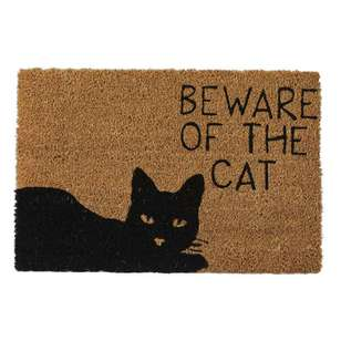 Koo Home Beware Printed PVC Backed Mat