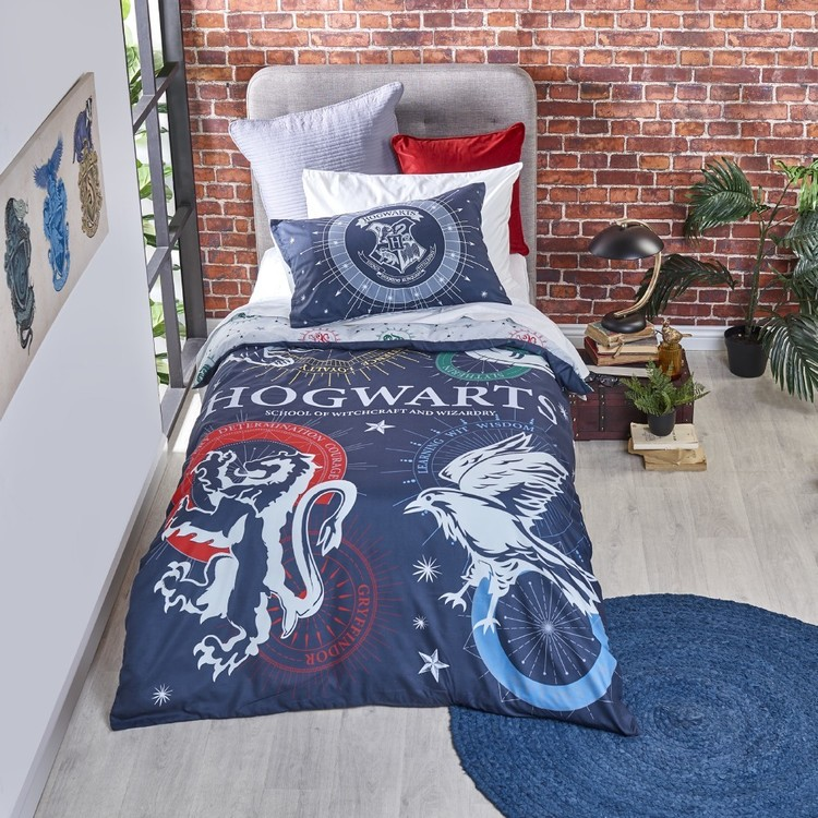 Harry Potter Hogwarts House Quilt Cover Set Multicoloured