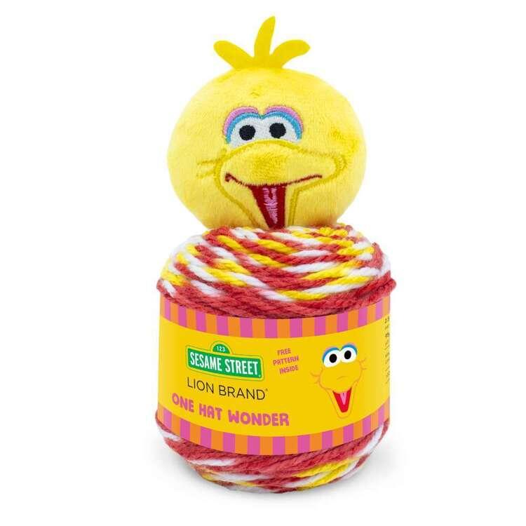 Sesame Street One Hat Wonder Big Bird Fashion Yarn Cakes