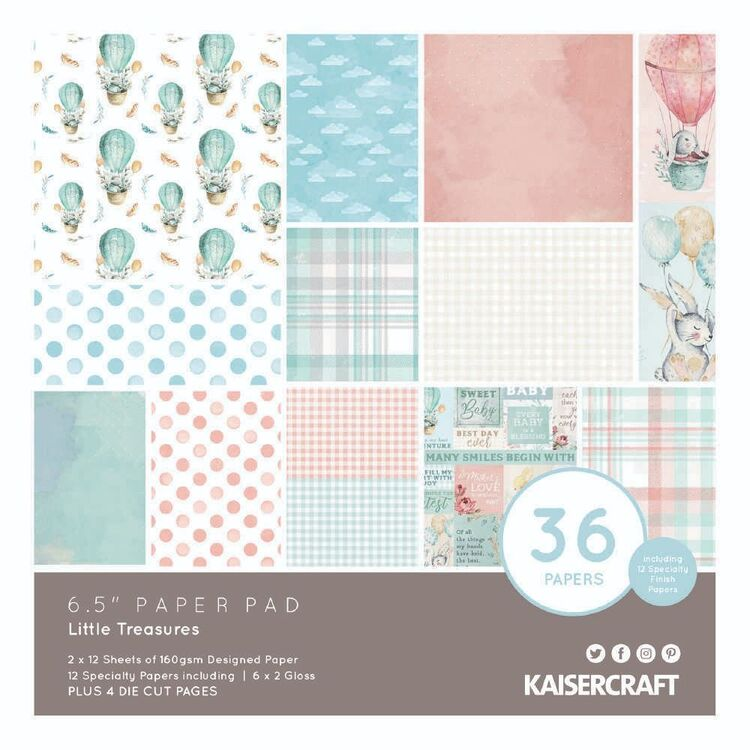 Kaisercraft Little Treasures Paper Pad 6.5 in