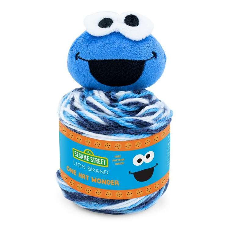 Sesame Street One Hat Wonder Cookie Monster Fashion Yarn Cakes