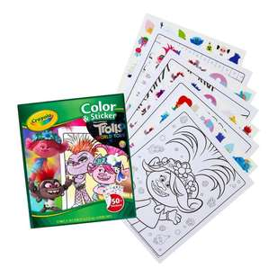 Crayola Trolls World Tour Colour And Sticker Book